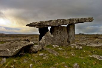 Poulnabrone dolmen in Burren Clare Tour with Minibus Hire Galway